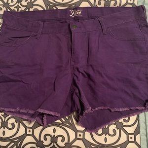Purple Old Navy Diva Shorts